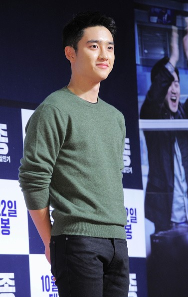 EXO's D.O. during the 'Exclusive: The Ryangchen Murders' VIP premiere at Lotte Cinema.