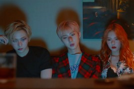 Triple H's E'Dawn, Hui and HyunA in the official music video of '365 Fresh.'