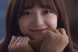 Kim Se Jung in the music video of her single 'Flower Way'.
