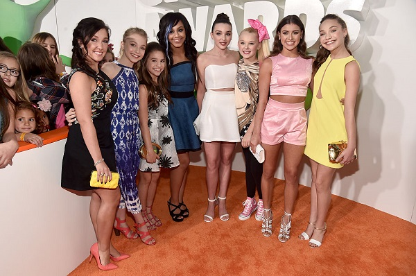 The cast of 'Dance Moms' attend Nickelodeon's 2016 Kids' Choice Awards at The Forum on March 12, 2016 in Inglewood, California.