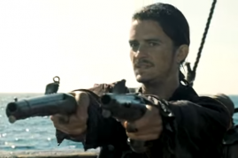 Orlando Bloom as Will Turner in a scene from 'Pirates of the Caribbean: At World's End'.