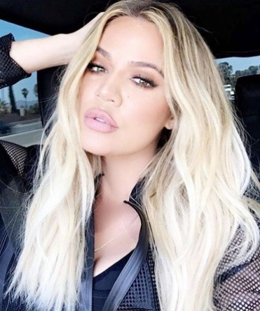 TV personality Khloe Kardashian takes a snap for her followers.