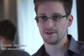Famed whistleblower Edward Snowden made a surprise appearance via live satellite at San Diego Comic Con 2016.