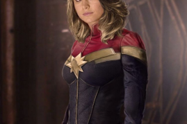 Actress Brie Larson in a promotional image as Captain Marvel.