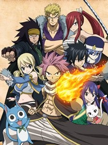"""These are some of the characters of """"Fairy Tail"""" headed by Natsu and Lucy."""