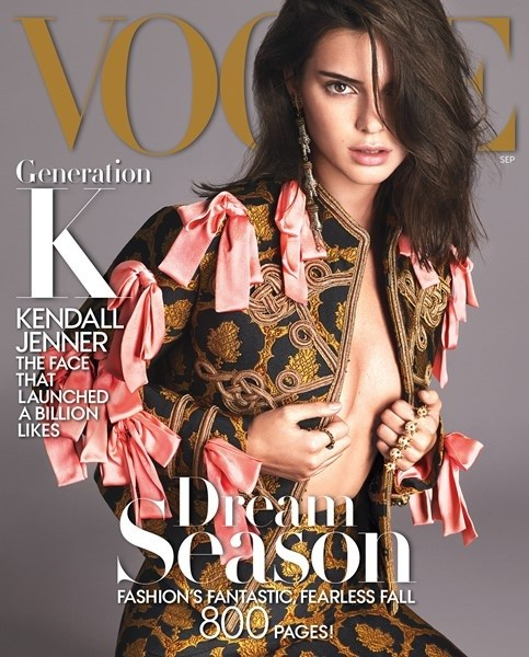 """Kendall Jenner takes on the September issue fall fashion shoot for """"Vogue."""""""